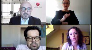 pantallazo del webinar con diferentes expertos